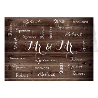 Mr & Mr Rustic & Romantic Wedding Card