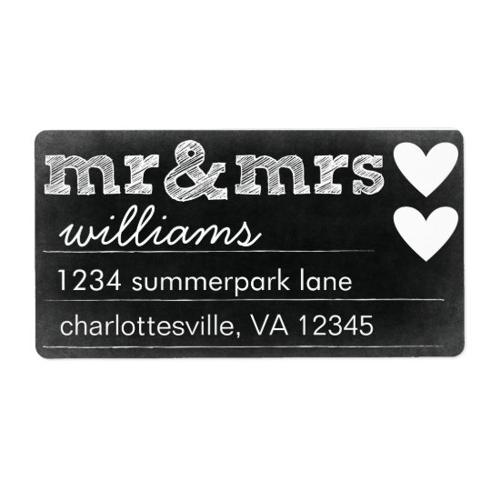 Mr & Mrs Address Labels