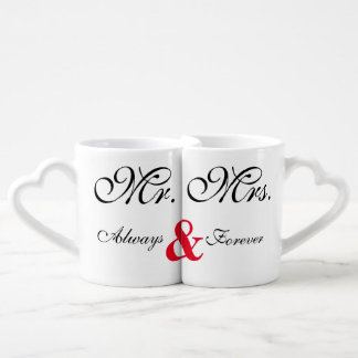 Mr. Mrs. Always & Forever Save The Date Mugs Lovers Mug