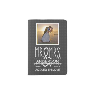 Mr Mrs Ampersand Custom Wedding Photo Honeymoon Passport Holder
