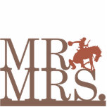 Mr & Mrs Bronco Cake Topper Photo Cut Outs
