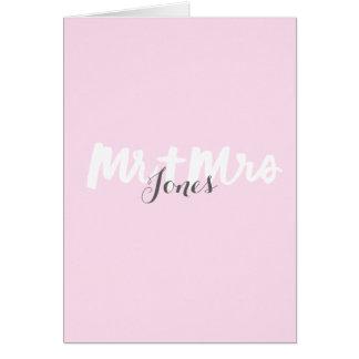 Mr & Mrs - Brush lettering Greeting Card