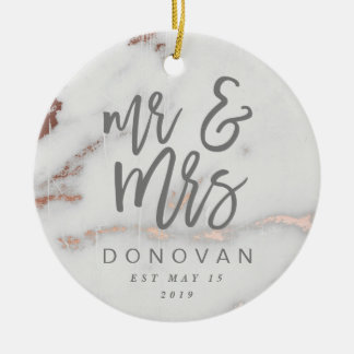 MR & MRS CERAMIC ORNAMENT