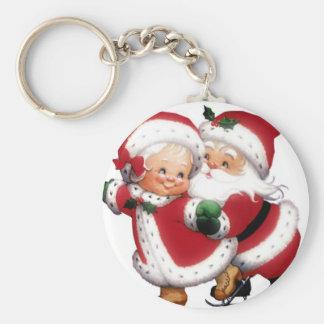 Mr & Mrs Claus Key Ring