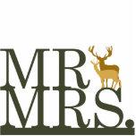 Mr & Mrs Deer Cake Topper