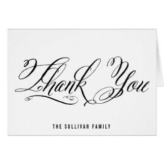 Mr. & Mrs. Elegant Script | Thank You Card