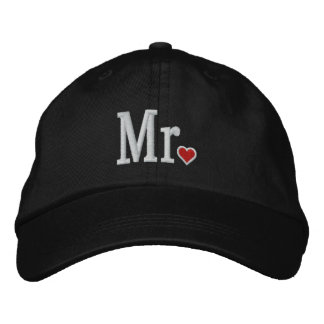 Mr & Mrs Embroidery Embroidered Cap Embroidered Baseball Cap