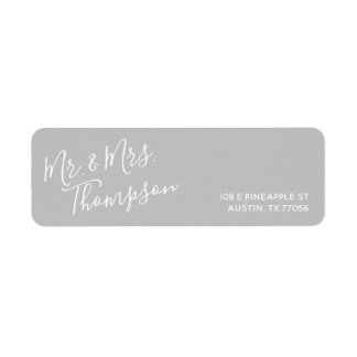 Mr. & Mrs. | Everyday Modern | Grey Return Address Return Address Label