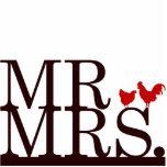Mr & Mrs Farmer Cake Topper