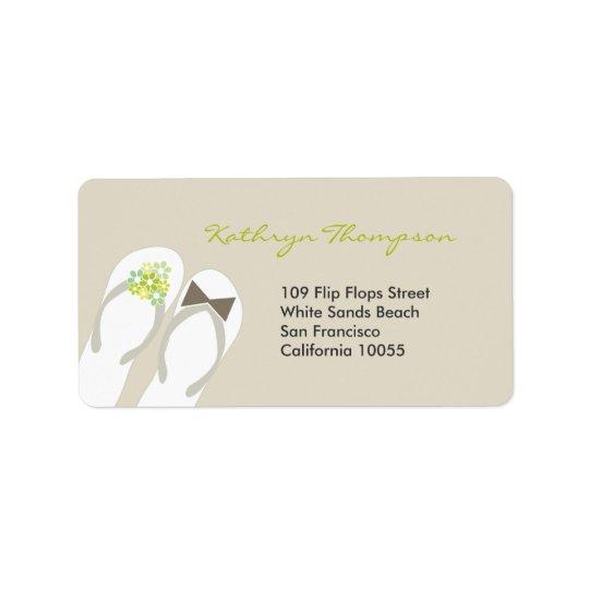 Mr & Mrs Flip Flops Beach Wedding Address Labels