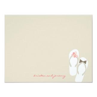 Mr & Mrs Flip Flops Beach Wedding Thank You Card 11 Cm X 14 Cm Invitation Card