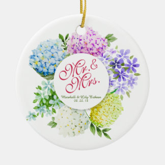 Mr. & Mrs. Floral Spring Wedding | Ornament