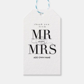 Mr & Mrs Gift Tag