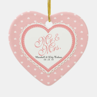 Mr. & Mrs. Heart Frame Wedding | Ornament