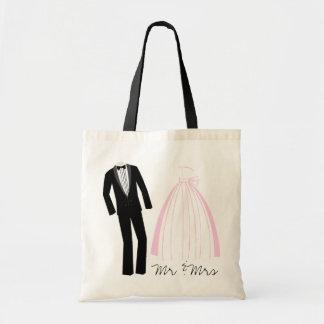 Mr & Mrs Keepsake Tote Bags