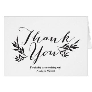 Mr. & Mrs. Kraft Rustic Thank You Card