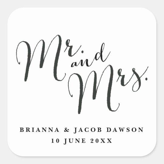 Mr. & Mrs. Modern Calligraphy sticker