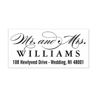 Mr. & Mrs. Monogram | Return Address Rubber Stamp