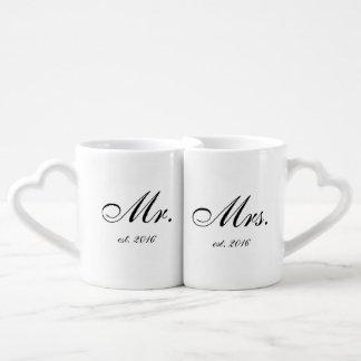 """""""Mr. & Mrs."""" Personalised Mug Set"""