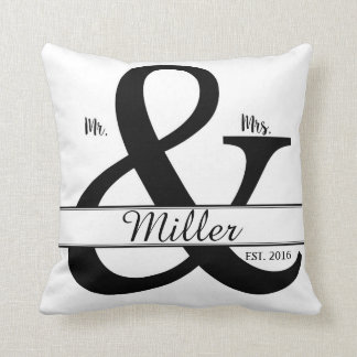 Mr. & Mrs. Personalized Cushion