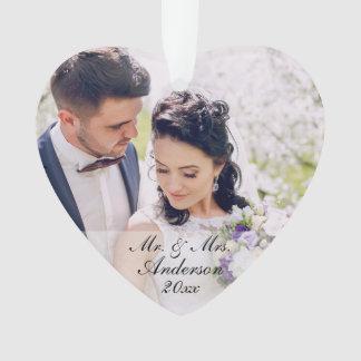 Mr. & Mrs. Personalized Photo Ornament W
