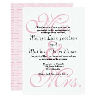 Mr. & Mrs. Pink Arrows - Wedding Invitation