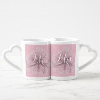 Mr Mrs Pink Floral Coffee Mug Set