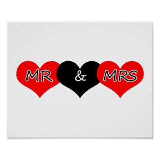 Mr & Mrs Posters