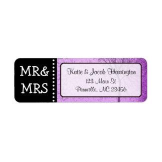 Mr & Mrs Purple Tree Return Address Labels