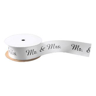 """""""Mr. & Mrs."""" Ribbon Satin Ribbon"""