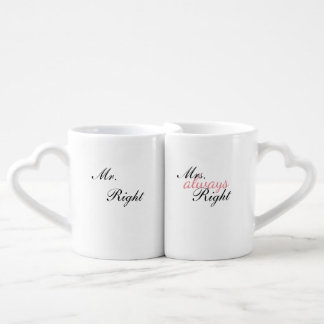 Mr. & Mrs right | pair cup