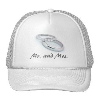 Mr Mrs Silver Wedding Bands Hats