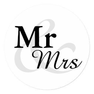 Mr&Mrs Simple Elegant Typography Wedding Card