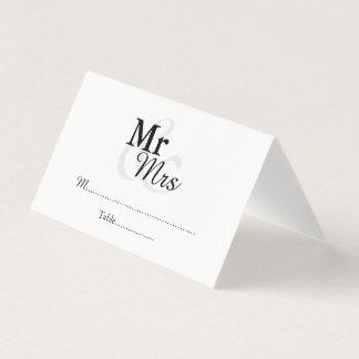 Mr&Mrs Simple Elegant Wedding Place Card