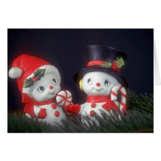 Mr & Mrs Snowman Card