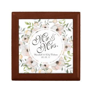 Mr. & Mrs. Watercolor Wedding Gift Box