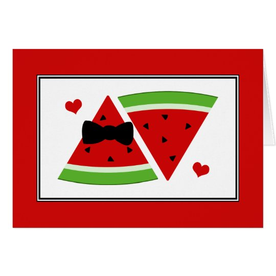 Mr & Mrs Watermelon Custom Thank You Note Cards