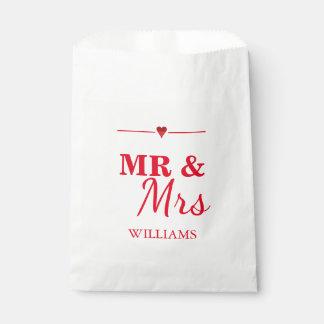 Mr. & Mrs. Wedding Favour Bag