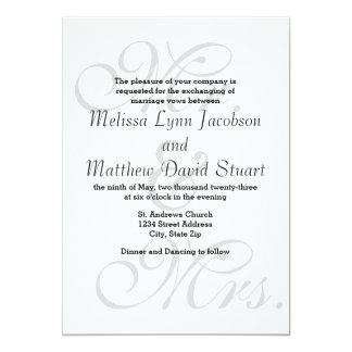 Mr. & Mrs. - Wedding Invitation