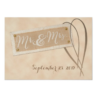 Mr. & Mrs. Wedding Invitation