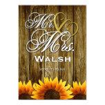 Mr & Mrs Western Sunflower Wedding Invitations 13 Cm X 18 Cm Invitation Card