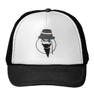 Mr. mustache mesh hats