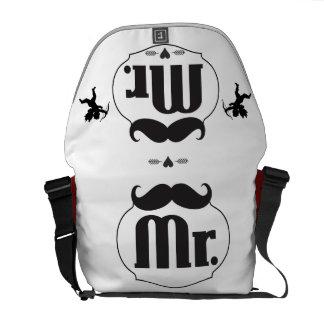 Mr. Mustache Lil Man Baby Boy Stats Messenger Bag