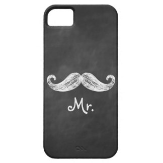 Mr. Mustache on Chalkboard iPhone 5 Case-Mate ID iPhone 5 Covers