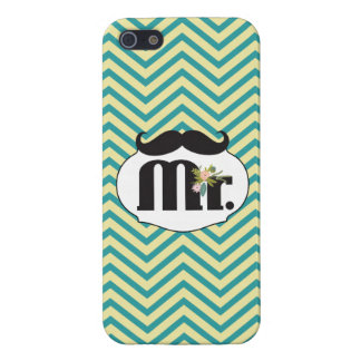 Mr. Mustache Yellow and Green iPhone 5 Covers
