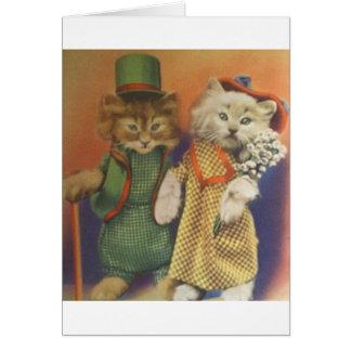 mr n mrs cat card