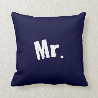 Mr. navy Blue Pillow Cushions