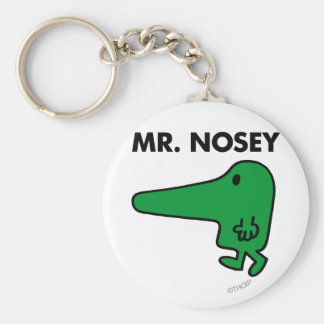 Mr. Nosey | Leading By A Nose Basic Round Button Key Ring