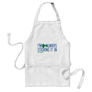 Mr. Nosey Nosing Around | Blue Lettering Standard Apron