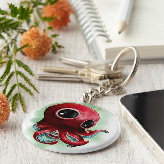Mr Octopus Basic Round Button Key Ring
